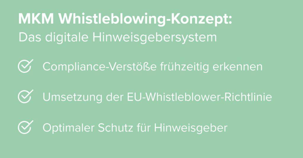 MKM Whistleblowing-Konzept: Das digitale Hinweisgebersystem